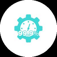 99.9%-Uptime-Guarantee